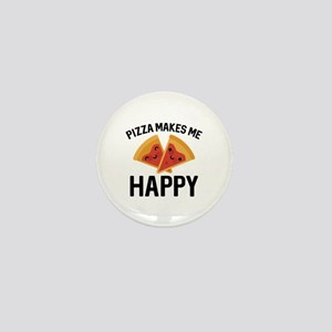 Pizza Makes Me Happy Mini Button